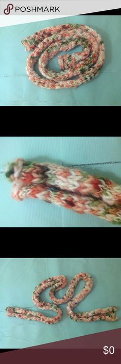 Knit Skinny Scarf, free with any purchase. Earth tones. Accessories Scarves & Wraps