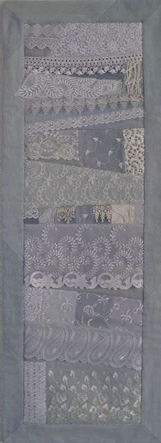 beautiful lace quilt/wall hanging by quilts und mehr