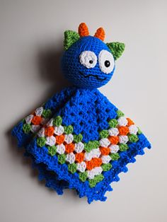 This pattern will instruct you on my how to crochet my original amigurumi Monster security blanket lovey. This crochet pattern is written in English with U.S. crochet terms. It is three pages long and written in easy to follow directions with a photo tutorial for the blanket.