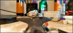 Experimenting with more masculine looks! 100% Pure Silver chunky rings hand-crafted from scratch with love by me!