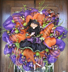 Deco Mesh HALLOWEEN DIVA WITCH by decoglitz on Etsy mesh halloween, mesh wreath, door, halloween wreath, divas, deco mesh, witch wreath, halloween diva, diva witch