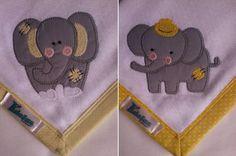 Kit Fralda de Boca com 02 unidades em tecido duplo (04 camadas para melhor absorção) 100% algodão com patch apliqué e bainha em tecido.  *As fraldinhas também podem ser personalizadas escolhendo o tema e a cor do tecido para montar o kit. R$ 24,90