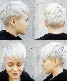 Platinum Blonde Short Pixie Haircuts for Women