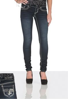 Hydraulic � Dark wash Ultra Embellished Jegging (original price, $59) available at #Maurices