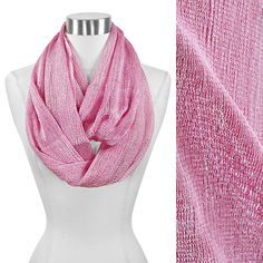 Solid Color Lurex Infinity Scarf #Wholesale24x7  Meet more Spring Scarves at www.wholesale24x7.com