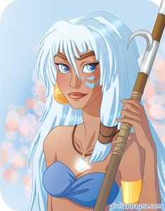 Kida from Atlantis: the lost empire, a forgotten Disney movie. Princess Kida, Disney Princess Art, Disney Fan Art, Disney Love, Disney Magic, Kida Disney, Princesa Disney, Disney Girls, Walt Disney