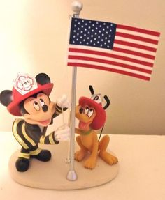 Disney Mickey Mouse to the Rescue Pluto A Hero's Solute Firefighter