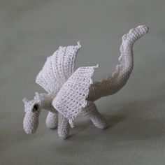 Really cool dragon from Lucy Ravenscar's pattern.