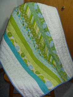 Bright and modern baby boy quilt by AmbrozAndCo on Etsy