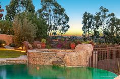 Experience instant relaxation in this gorgeous San Diego backyard.