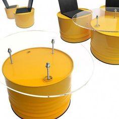 #Drum Logo Love Post:6898311270 Car Furniture, Barrel Furniture, Recycled Furniture, Drum Seat, Barris, Oil Barrel, 55 Gallon Drum, Steel Barrel, Oil Drum