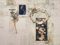 ♕ one of the prettiest collage book pages I've ever seen