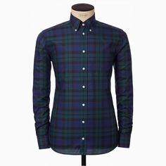 Black Watch Button-Down Shirt