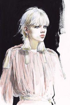 Lanvin by Diana Kuksa #Fashionillustration #FashionisArt