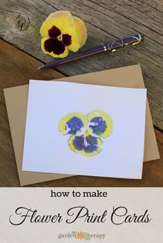 How to Make Hammered Flower Print Cards. These would make fitting cards for your home stash or thank you cards for weddings and showers. A set of these cards (six maybe?) would also make a great gift.