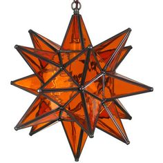 Indeed Decor's Distinctive Glass Star Lights illuminate an eye-catching radiance whether turned on or off.