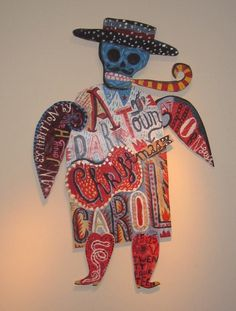 """A Darktown Christmas Carol"" by Jonny Hannah (painted cutout figure: 1 metre high)"