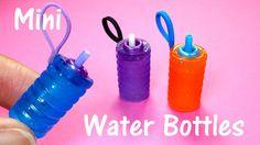 DIY Miniature Doll Working Water Bottles