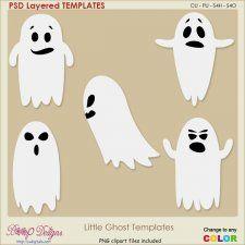 Little Ghost Layered TEMPLATES #CUdigitals cudigitals.com cu commercial digital scrap #digiscrap scrapbook graphics
