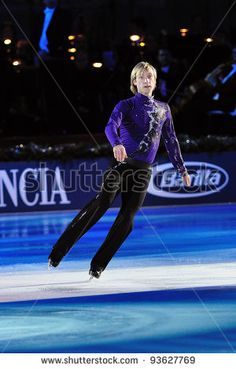 TURIN, ITALY - JANUARY 01: Evgeny Plushenko perform gala at 2012 Capodanno on Ice on January 01, 2012 in Turin, Italy. He starts again competitions after a long break, at 2012 European Championship.