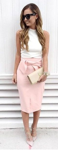 White On Pink Ladylike Chic