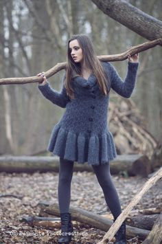 Hand knitted mohair Deimante Meilune