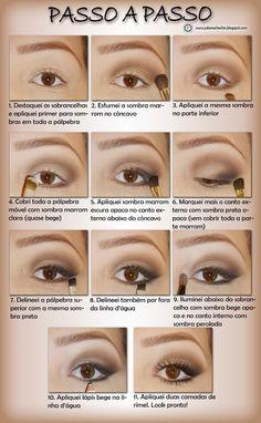 Maquilhando os Olhos - Passo a Passo