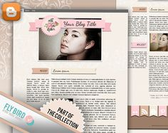 Blogger Template Sunny by FlyBirdBranding on Etsy, €19.00