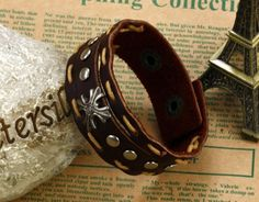 Accessories fashion personality vintage bracelet cowhide bracelet @PH773 & Free Shipping to worldwide