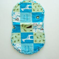 Flannel Burp Cloths with Animals and Letters by threadsandthings1