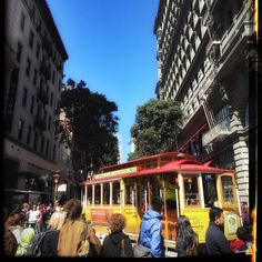 Busy line at Powell and Market cable car station. by ronsatha