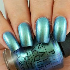 OPI This Color Is Making Waves swatched by Olivia Jade Nails