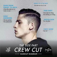 Hairstyle - The Side Part Crew Cut