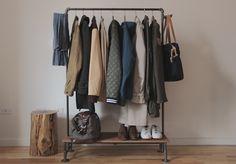 diy steel pipe coat rack.