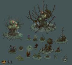 ArtStation - Swamp - Dungeon Hunter V, Aleksandr Nikonov