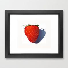 Strawberry Framed Art Print by Rachel Winkelman - $32.00