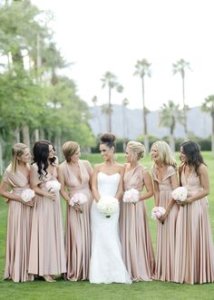 Two Birds Bridal bridesmaid dresses | photo by Joielala | 100 Layer Cake