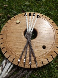 The Trollen Wheel. What it is and a flat braid turorial. Flax Weaving, Inkle Weaving, Card Weaving, Tablet Weaving, Lucet, Yarn Crafts, Sewing Crafts, Finger Weaving, Spool Knitting