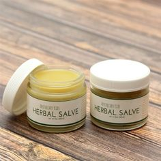 Herbal salve to help soothe irritated skin!   I've been using this for awhile and love it - safe for my kids too.