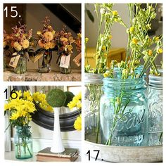 23 Mason Jar Ideas, Mason Jar Decor, Mason Jar Candles, Centerpieces, Gardens and More! — My Blessed Life™