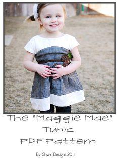 Maggie Mae Tunic PDF Pattern Sizes 6m5y by ShwinDesigns on Etsy, $6.95