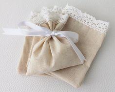 Set of 10 Natural Linen Wedding Favor Bag by BridalLife on Etsy, $20.00