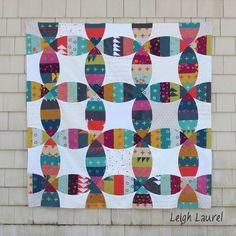 = tutorial = Melon Double Wedding Ring quilt by Karin Jordan 2   Leigh Laurel Studios