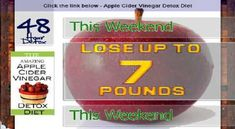 Apple Cider Vinegar Diet Plan Weight Loss