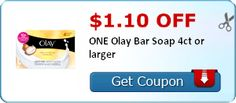 Tri Cities On A Dime: $1.10 COUPON ON OLAY BAR SOAP 4 CT OR LARGER