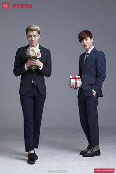 Twitter / SMTownFamily: {PROMO} 140401 Exo for Lotte Duty Free - Se Hun and Su Ho