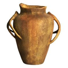 """Check out this item at One Kings Lane! 24"""" Deer-Horn-Handle Pot, Sandstone"""
