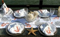 Everything Coastal....: Autumn Table Scape Ideas for the Coast #7 - Oysters