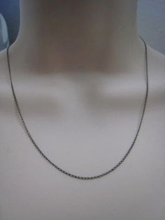 Vintage Sterling Silver Fine Link Chain Necklace 16 by Glamaroni, $28.00