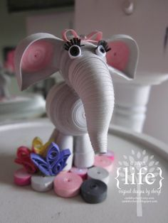 3D Quilling elephant